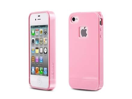 MOMAX iCase Shine for Apple iPhone 4S/4 - Baby Pink ...