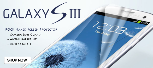 ROCK high-definition and anti-scratches Naked Screen Protector for Samsung I9300 Galaxy SIII