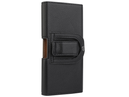 Textured Synthetic Leather Belt Pouch (Bumper Case Compatible) - Black Belt Pouch