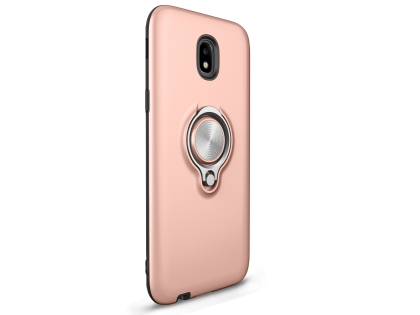 Impact Case With Ring Holder for J5 Pro (2017) - Rose Gold Impact Case