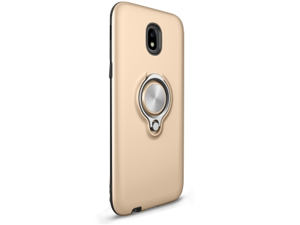 Impact Case With Ring Holder for J5 Pro (2017) - Gold Impact Case