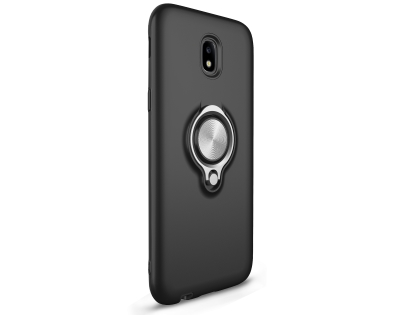 Impact Case With Ring Holder for J5 Pro (2017) - Black Impact Case
