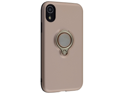 Impact Case With Ring Holder for iPhone XR - Rose Gold Impact Case
