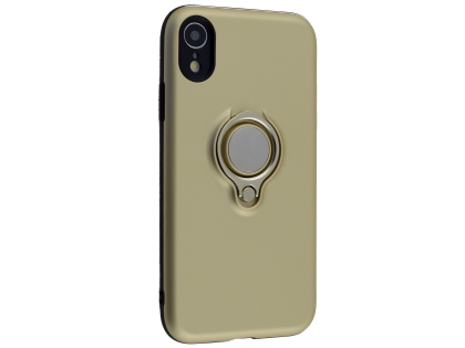Impact Case With Ring Holder for iPhone XR - Gold Impact Case