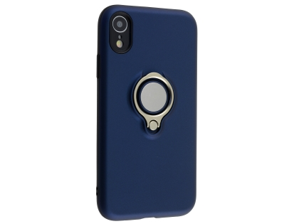 Impact Case With Ring Holder for iPhone XR - Midnight Blue Impact Case