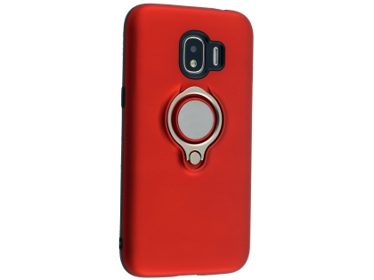 Impact Case With Ring Holder for Samsung Galaxy J2 Pro (2018) - Red Impact Case
