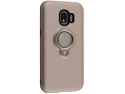 Impact Case With Ring Holder for Samsung Galaxy J2 Pro (2018) - Rose Gold Impact Case
