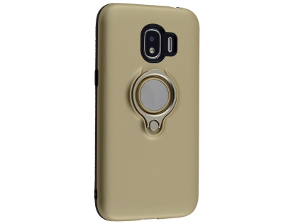 Impact Case With Ring Holder for Samsung Galaxy J2 Pro (2018) - Gold Impact Case
