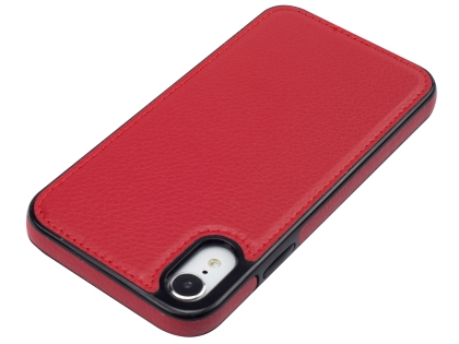 Synthetic Leather Back Cover for iPhone XR - Red