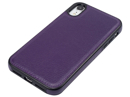 Synthetic Leather Back Cover for iPhone XR - Purple