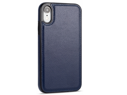 Synthetic Leather Back Cover for iPhone XR - Midnight Blue