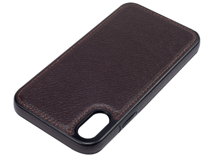 Synthetic Leather Back Cover for iPhone XR - Brown
