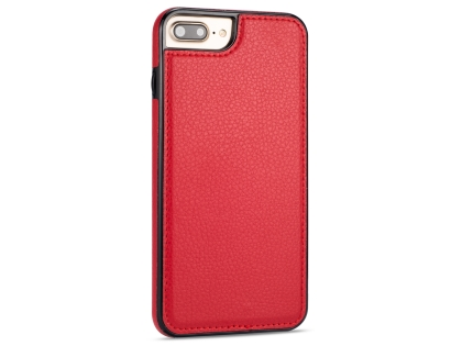 Synthetic Leather Back Cover for iPhone 8 Plus/7 Plus - Red Leather Case