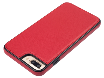 Synthetic Leather Back Cover for iPhone 8 Plus/7 Plus - Red