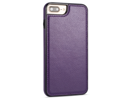 Synthetic Leather Back Cover for iPhone 8 Plus/7 Plus - Purple Leather Case