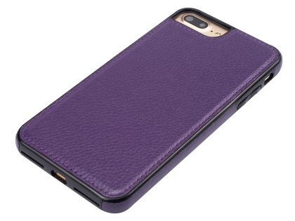 Synthetic Leather Back Cover for iPhone 8 Plus/7 Plus - Purple