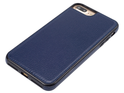 Synthetic Leather Back Cover for iPhone 8 Plus/7 Plus - Midnight Blue