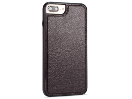 Synthetic Leather Back Cover for iPhone 8 Plus/7 Plus - Brown Leather Case
