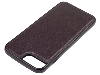 Synthetic Leather Back Cover for iPhone 8 Plus/7 Plus - Brown