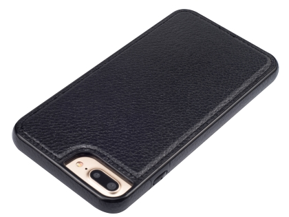 Synthetic Leather Back Cover for iPhone 8 Plus/7 Plus - Black