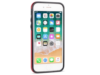 Synthetic Leather Back Cover for iPhone 8/7 - Red