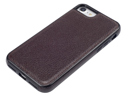 Synthetic Leather Back Cover for iPhone 8/7 - Brown
