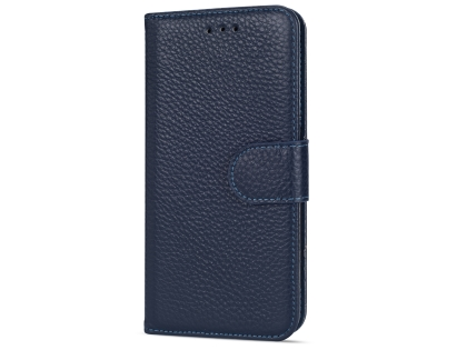 Premium Leather Wallet Case for Google Pixel 3  - Midnight Blue Leather Wallet Case