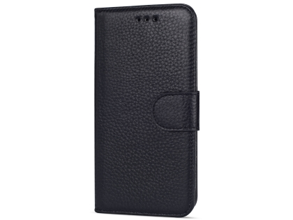 Premium Leather Wallet Case for Google Pixel 3  - Black Leather Wallet Case