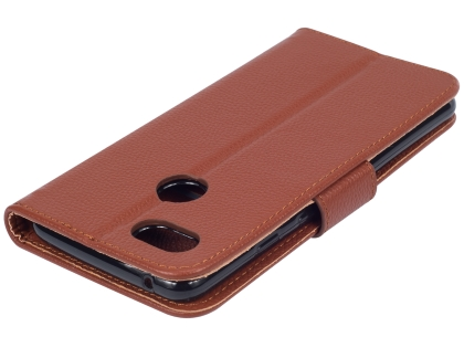 Premium Leather Wallet Case for Google Pixel 3  - Brown