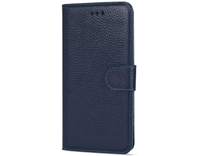 Premium Leather Wallet Case for Google Pixel 3 XL - Midnight Blue Leather Wallet Case