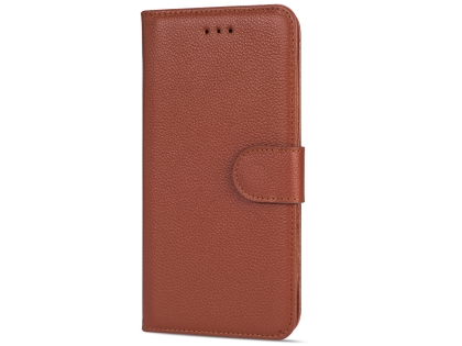 Premium Leather Wallet Case for Google Pixel 3 XL - Brown Leather Wallet Case