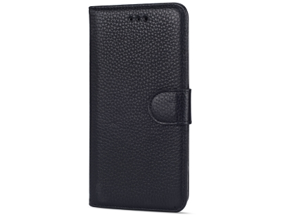 Premium Leather Wallet Case for Google Pixel 3 XL - Black Leather Wallet Case