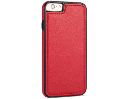 Synthetic Leather Back Cover for iPhone 6s/6 - Red Leather Case