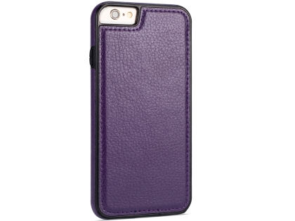 Synthetic Leather Back Cover for iPhone 6s/6 - Purple Leather Case