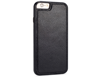 Synthetic Leather Back Cover for iPhone 6s/6 - Black Leather Case