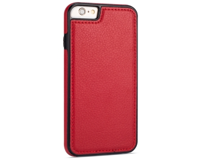 Synthetic Leather Back Cover for iPhone 6s Plus/6 Plus - Red Hard Case