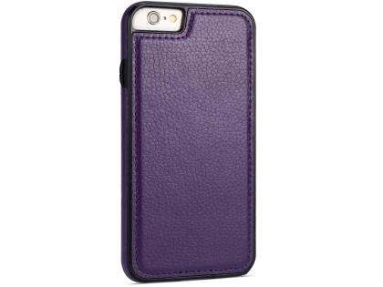Synthetic Leather Back Cover for iPhone 6s Plus/6 Plus - Purple Hard Case