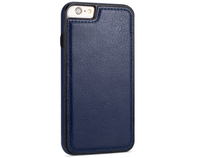 Synthetic Leather Back Cover for iPhone 6s Plus/6 Plus - Midnight Blue Hard Case