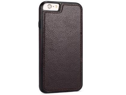 Synthetic Leather Back Cover for iPhone 6s Plus/6 Plus - Brown Hard Case