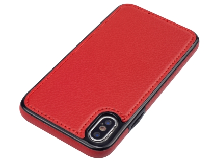 Synthetic Leather Back Cover for iPhone Xs/X - Red