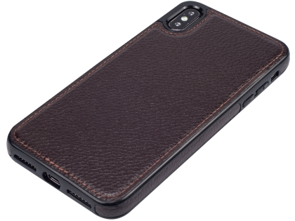 Synthetic Leather Back Cover for iPhone Xs Max - Brown