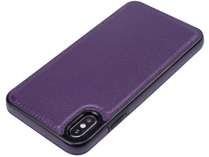 Synthetic Leather Back Cover for iPhone Xs Max - Purple