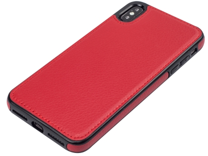 Synthetic Leather Back Cover for iPhone Xs Max - Red