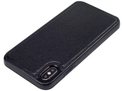 Synthetic Leather Back Cover for iPhone Xs Max - Black