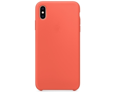 Silicone Case for Apple iPhone Xs Max - Nectarine Soft Cover