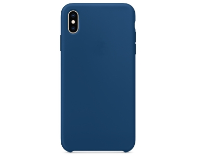 Silicone Case for Apple iPhone Xs Max - Blue Horizon Soft Cover