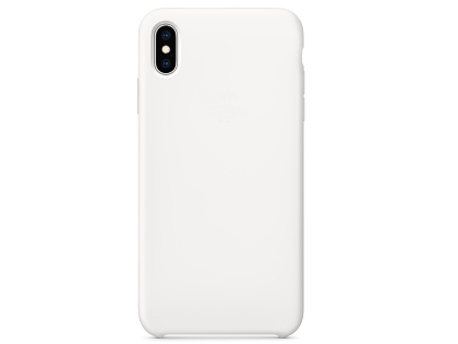 Silicone Case for Apple iPhone Xs Max - White Soft Cover