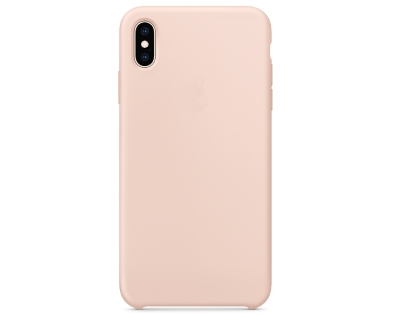 Silicone Case for Apple iPhone Xs Max - Pink Sand Soft Cover