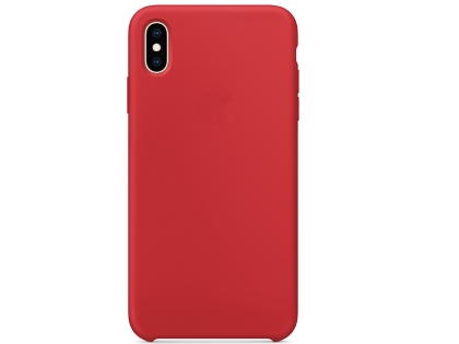 Silicone Case for Apple iPhone Xs Max - Red Soft Cover