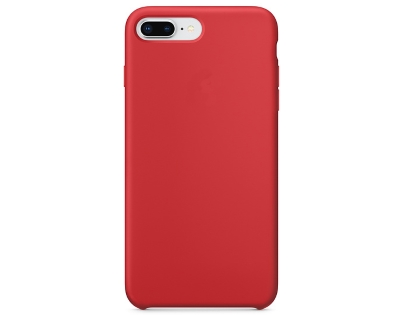 Silicone Case for Apple iPhone 7 Plus/8 Plus - Red Soft Cover